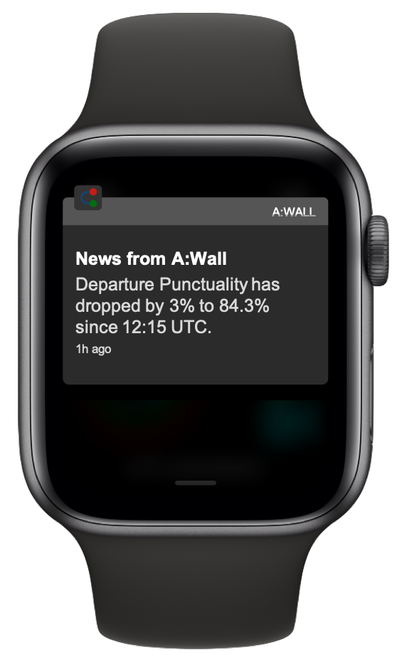Real-time KPIs on Applewatch