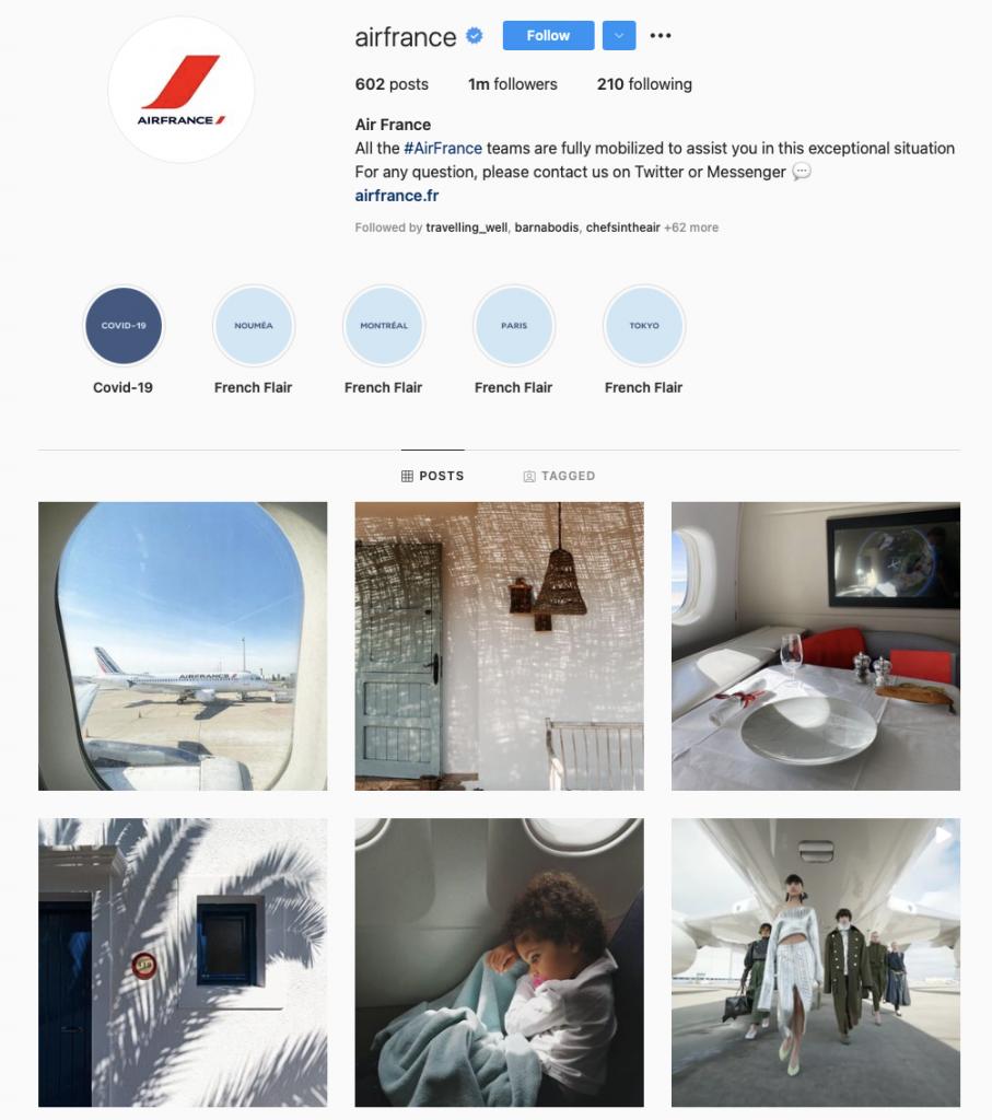 world's best airline brands on instagram — Air France