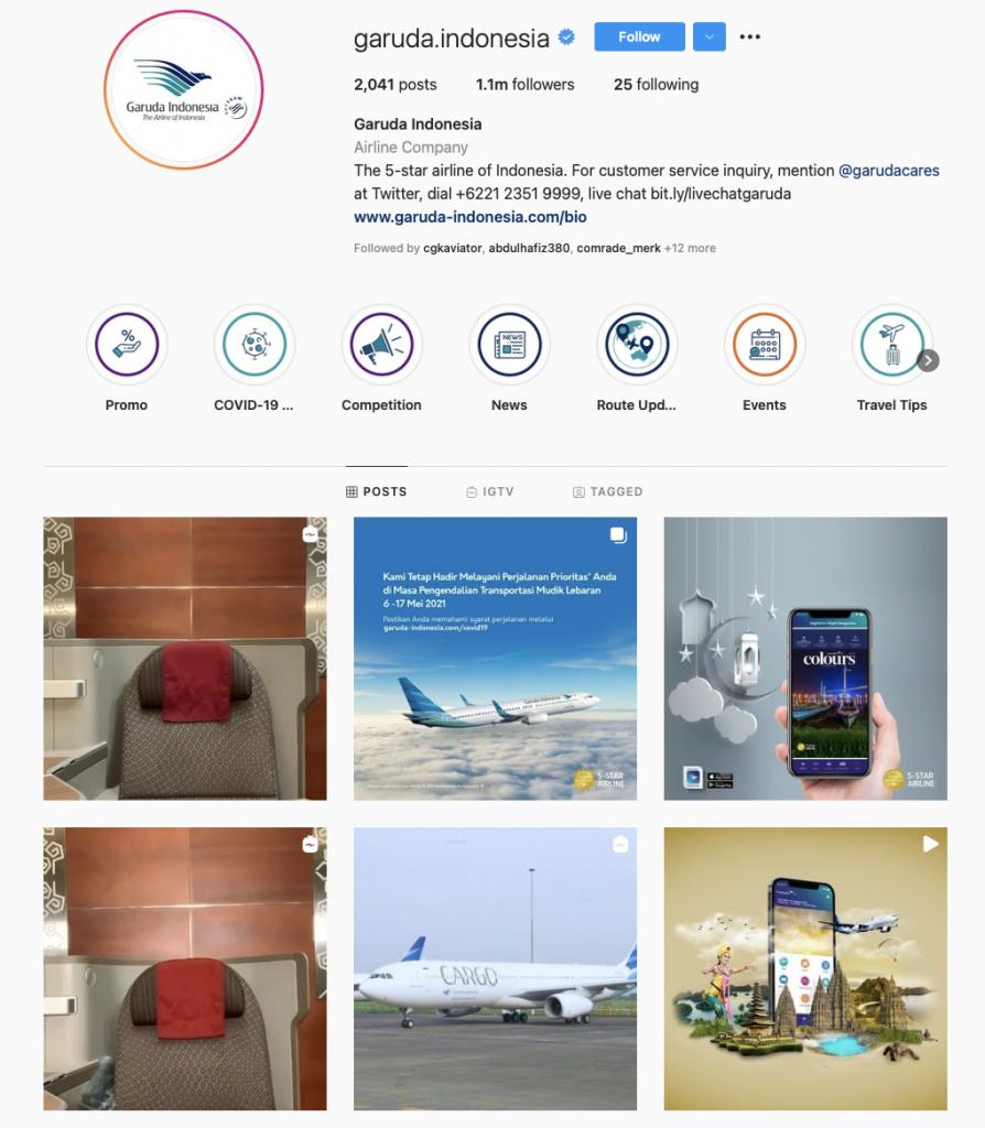 world's best airline brands on instagram - Garuda Indonesia