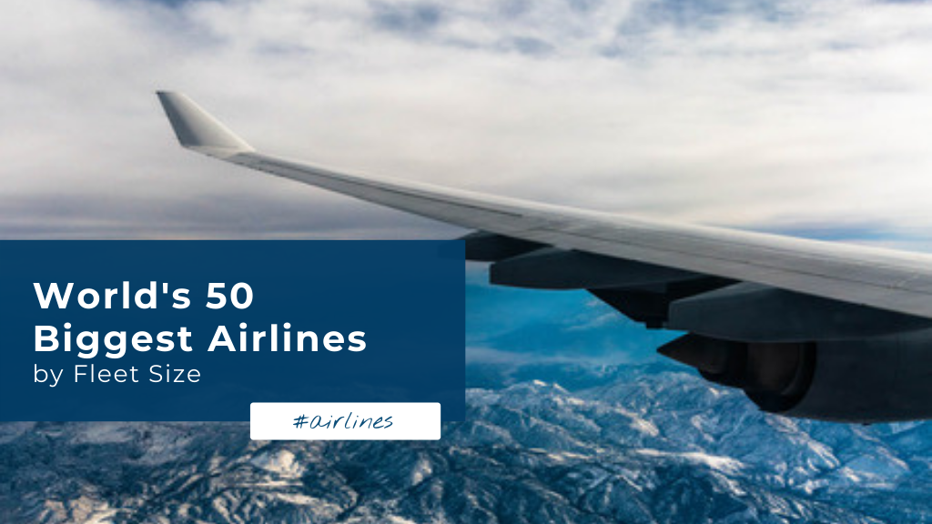 wolrd's 50 biggest airlines by fleet size