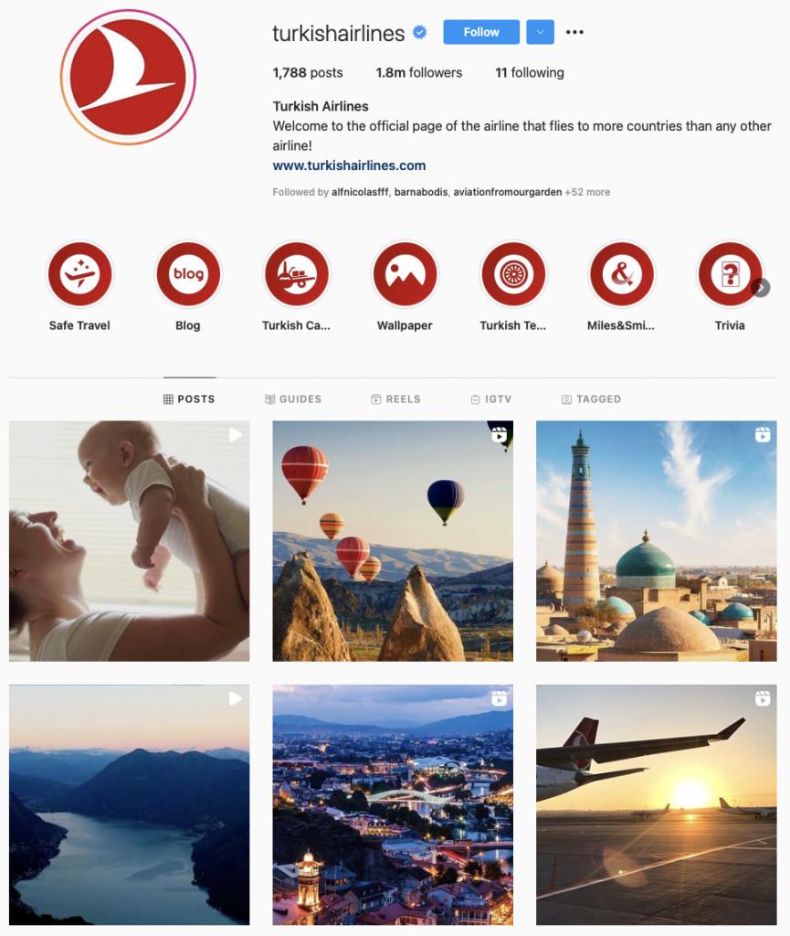 world's best airline brands on Instagram — Turkish Airlines