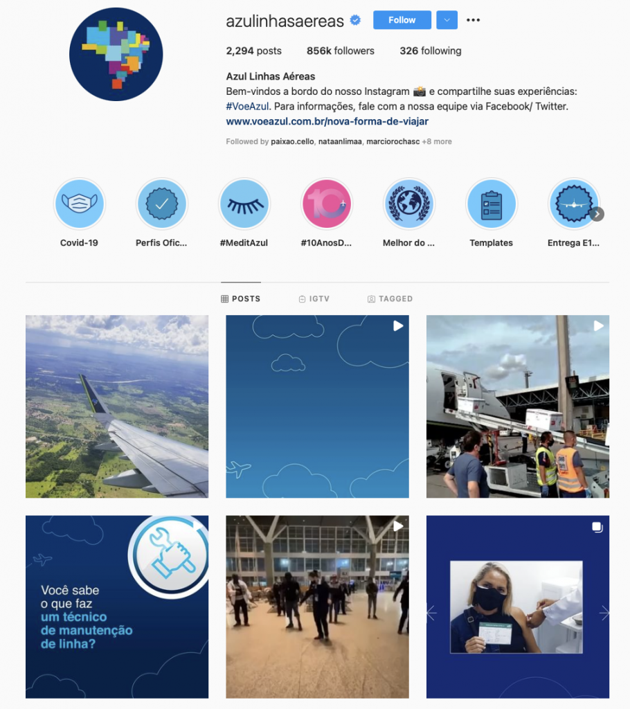 World's best airline brands on instagram — Azul