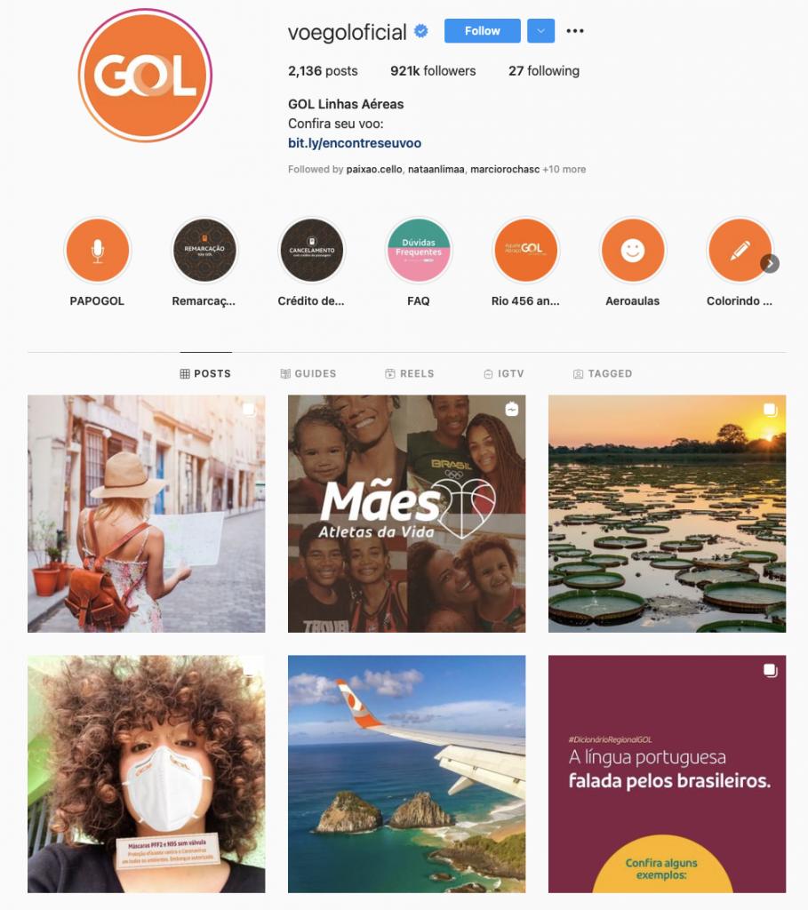 World's best airline brands on instagram — GOL