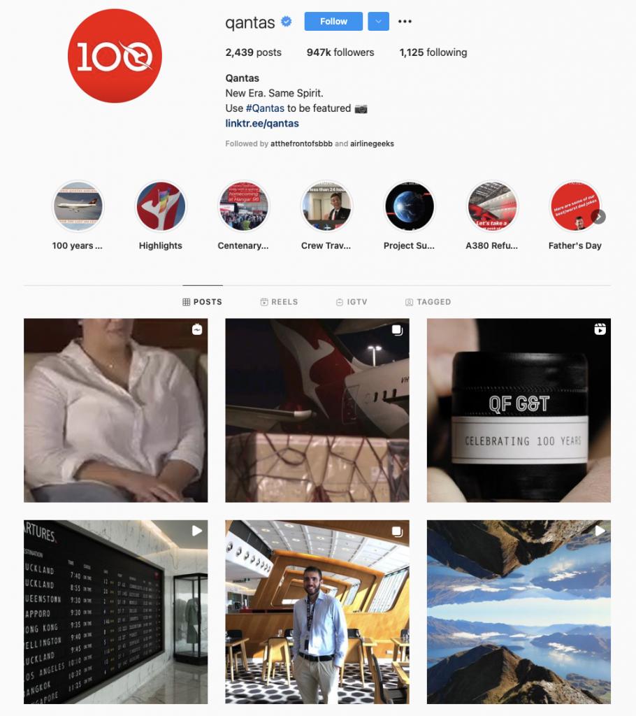 world's best airline brands on instagram — qantas