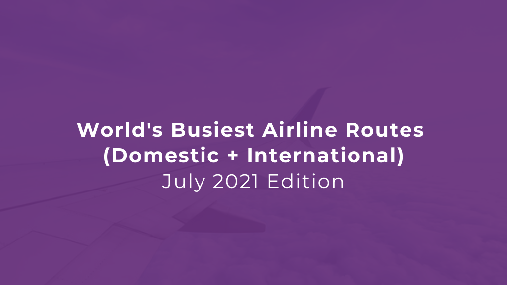 World's busiest airline routes
