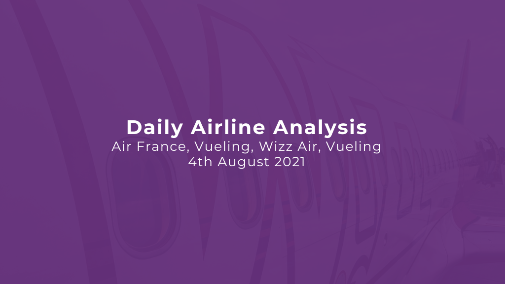 Daily Airline Analysis - Air France, Vueling, Wizz Air, Vueling