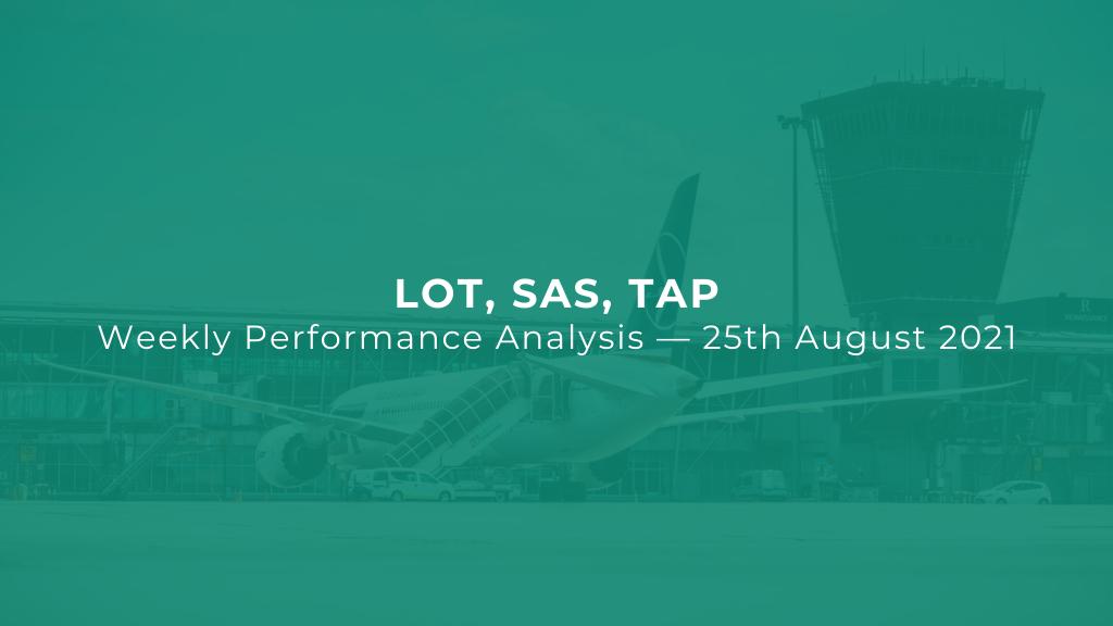 LOT, SAS, TAP — Weekly Performance Analysis — 25 August