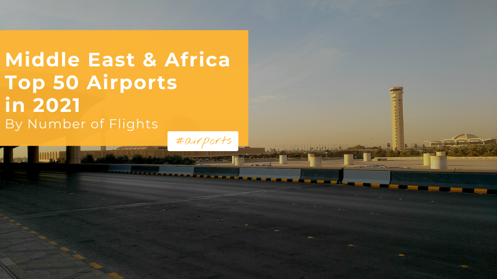 Middle East & Africa: Top 50 Largest Airports in 2021 by Number of Flights