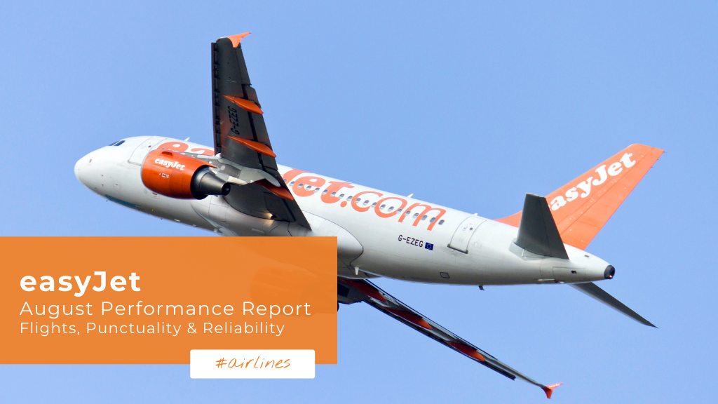 easyJet: August Performance Report — Flights, Punctuality & Reliability