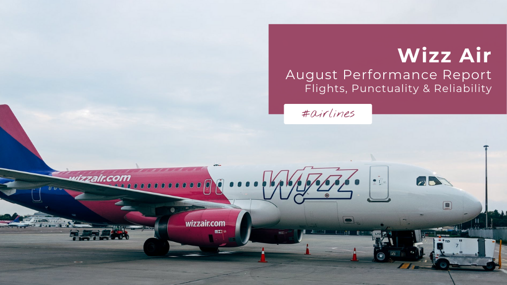 Wizz Air: August Performance Report — Flights, Punctuality & Reliability